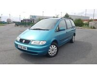 1998 Seat Alhambra 2.0 Petrol 7 Seater MPV MOT'd Cheap People Carrier Sharan Galaxy Zafira Picasso