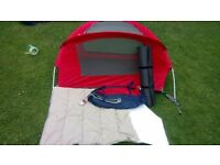 Nomad kids travel bed/travel cot/tent includes mattress and sleeping bag