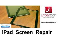 Apple iPad 2 3 4 CRACKED GLASS DIGITIZER TOUCH SCREEN REPAIR SERVICE FROM £24.99