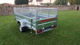 NEW TRAILER, 8,7FT X 4,1FT MESH SIDES TRAILER