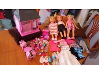 LARGE CHAD VALLEY DESIGNA FRIEND DOLLS AND CLOTHES BUNDLE & DESIGNA PET BOUTIQUE WITH LOADS OF XTRA