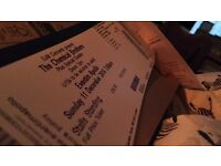 2X STANDING CHEMICAL BROTHERS TICKETS