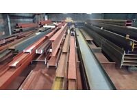 Steel beams suitable for extensions and new build projects. Cut to any length. Prices start at £30/m