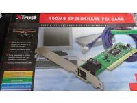 Trust 100MB PCI Network Card.