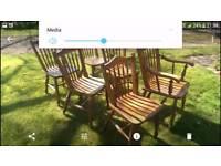 6 Victorian kitchen chairs
