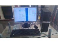 HP Pro Mini Tower, New HP wireless Keyboard & Mice, WiFi connect, 19inch LG Flat screen Monitor