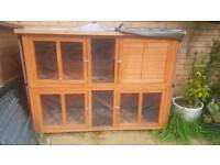 Guinea Pig Rabbit Hutch Bluebell Hideaway with cover