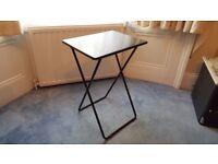 Folding Small Black Metal Habital Table/Desk