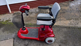 MOBILITY SCOOTER. 3 wheel 4 mph. Refurbished by Bodach Scooters. Profits to Homelands Trust – Fife.