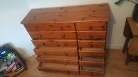 Large Solid Oak Chest of Drawers