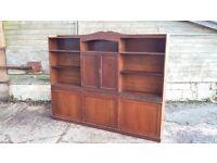 Vintage Stripped Dresser Cupboard Shelves Mahogany and Pine storage furniture kitchen sussex