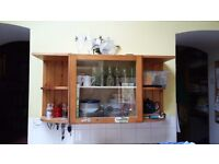 Kitchen display cabinet and side shelves