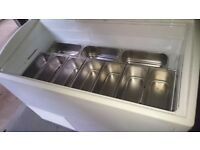 Ice Cream Display Counter, 10 Napoli Pan, Excellent condition with serve over counter and light