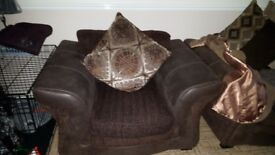 Nice armchair in brown good cond