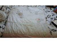 Cot bed quilt mattress and changing mat