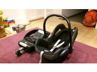 Maxi cosi isofix base unit and car seat