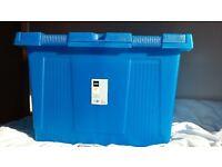 toy chest storage box blue