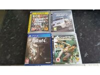 3 ps3 games and 1 ps4 game various prices