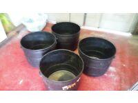 4 Large Patio Pots