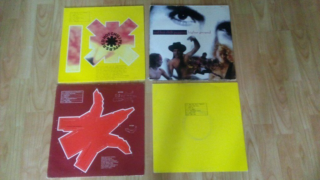 """4 x 12"""" red hot chilli peppers - rare sleeves / remixes /"""