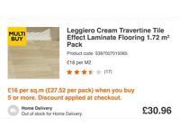 Cheap laminate 9 packs of tavertine effect laminate flooring