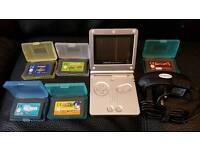 Game boy advanced sp aboustley mint condition with games and charger not a mark on it