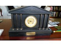 Slate clock, given as wedding present in 1916.
