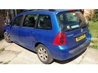 Peugeot 307 Estate for sale for PARTS