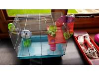 Hamster Small pet cage and accesiories