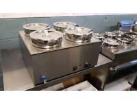 commercial wet bain marie 4 pot catering equipment ace lincat parry falcon