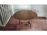 Small Oak folding coffee table