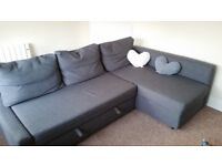 Ikea Friheten Corner Sofa Bed With Storage Skiftebo Dark Grey Collection Only