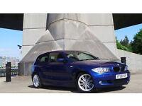 2008 08 BMW 120D M SPORT 2.0 3DR MOT 06/17 BLUE DIESEL(2 YEARS AA WARRANTY)