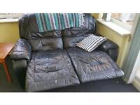 2 seat manual recliner sofa black
