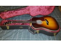 Taylor 210e Deluxe Electro Acoustic (Brand new) in Sunburst colour & Taylor Hard Case RRP - £1350