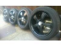 "17"" inch BSA Racing alloy wheels 4x108 Citroën saxo c2 c3 c4 Peugeot 206 306 307 Ford fiesta focus"