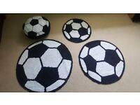 NEXT Football rugs, cushion and curtain
