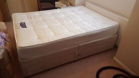 4 draw Double bed with Mattress