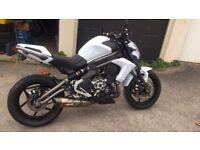 Kawasaki er6n 2012 akroprovic low miles 650 twin