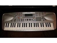 Electronic Keyboard with LCD Music Information Display