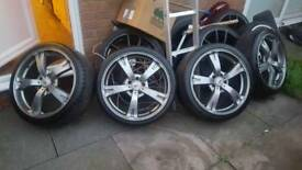 Bk rasing 19inc alloys with all most new tyres