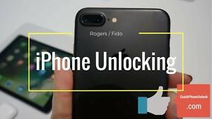 ROGERS / FIDO -- iPhone UNLOCKING -- $69.99 CAD