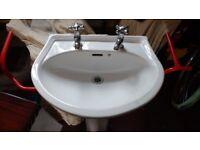 Bathroom cloakroom or toiket sink and pedestal stand