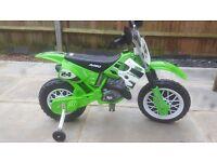 Green electric motor bike