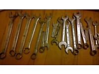 Spanners and Socket sets, ratchets etc