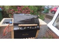 Gas BBQ four burner and side ring