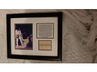 Framed 'Queen' picture Queen pop band photo