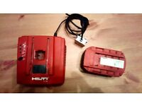 Hilti charger & battery