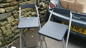 Argos black tall foldable stools x 2