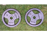 Pair of Bodymax 20kg cast iron weight plates